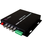 4 Video Ports to Fiber Optic Converter