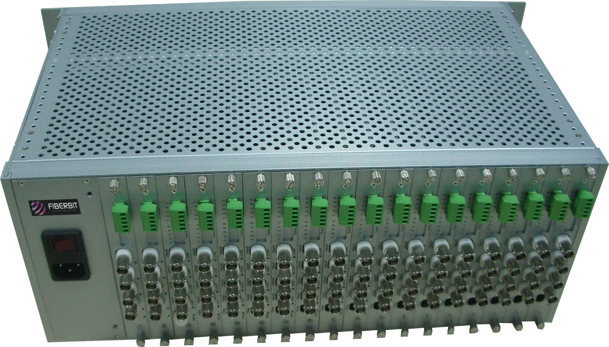 64 Video Ports to Fiber Optic Converter