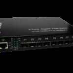 8 SFP slots (sockets) & 1 10/100/1000 Mbit/s TX UTP Fiber Mini Switch