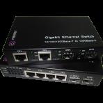 2 SFP slots (sockets) & 2 10/100/1000 Mbit/s TX UTP Fiber Media Converter