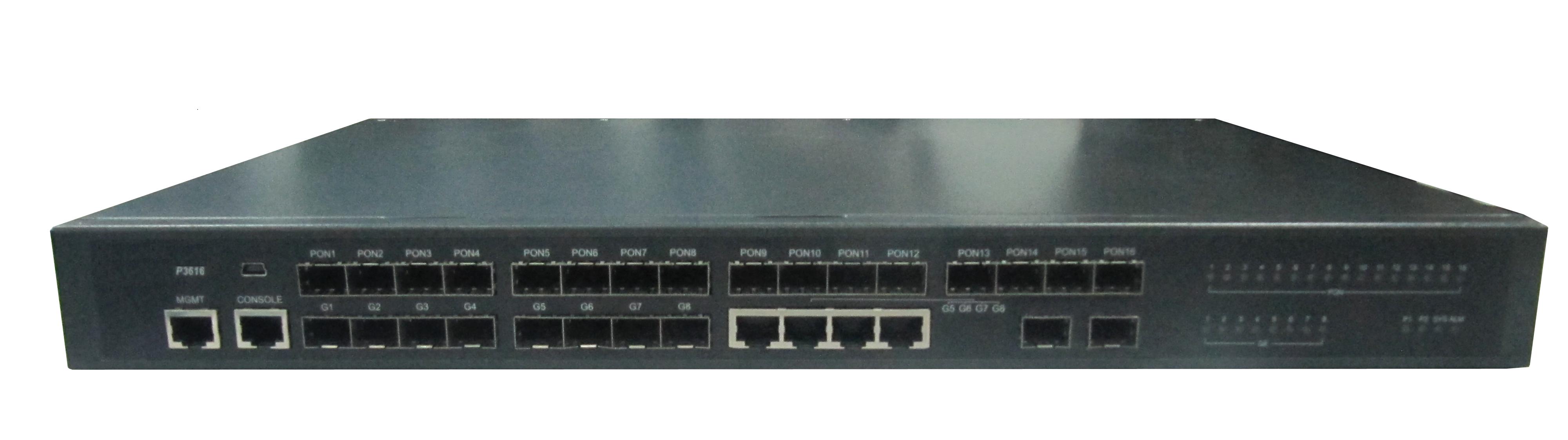 Layer 3 Aggregation EPON OLT 8, 12, 16 PON ports and GE or 10G uplinks